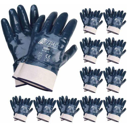 NITRAS 03440 Nitrilhandschuhe Arbeitshandschuhe Handschuhe mit Stulpe