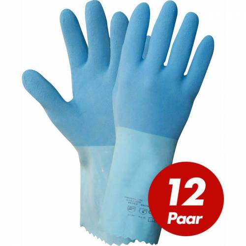 NITRAS 1611 Blue Power Grip Latexhandschuhe, Arbeitshandschuhe,