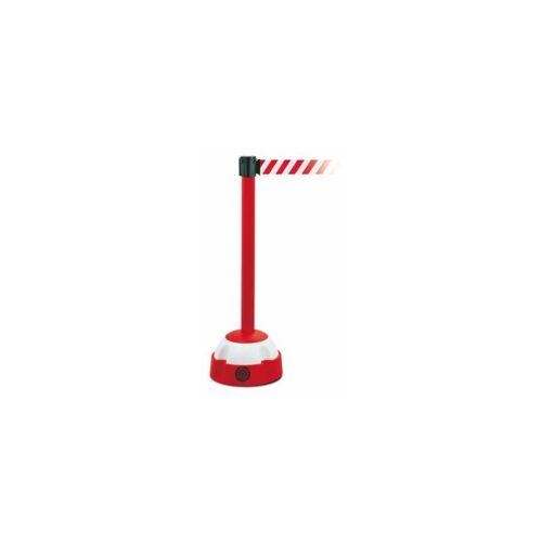 MORAVIA Warnständer, mit Gurt Gurtband rot / weiß