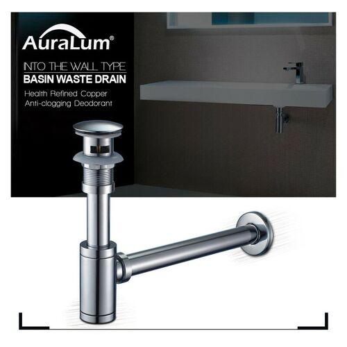 AURALUM Siphon Geruchverschluss Waschbecken Röhrensiphon Sifon Waschtisch