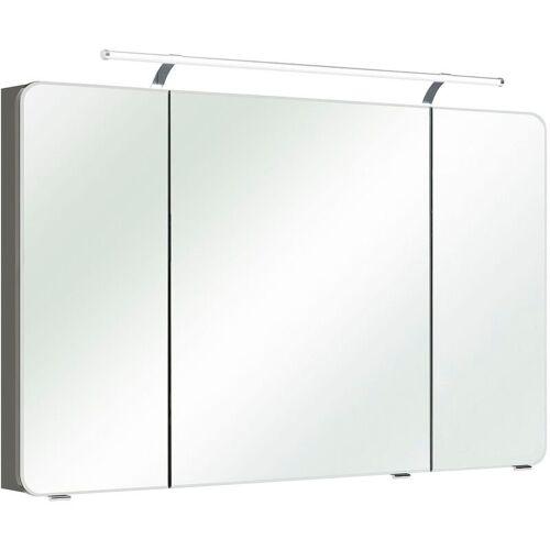 Lomadox - Badezimmer Spiegelschrank 120cm mit LED & Steckdose