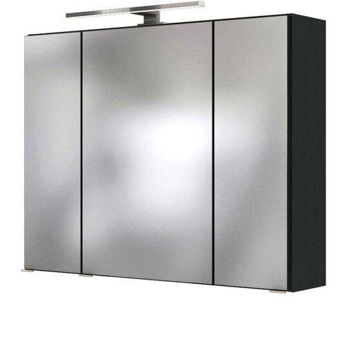 LOMADOX Badezimmer LED Spiegelschrank 80 cm ARLON-03 in grau BxHxT: 80 x 66 x