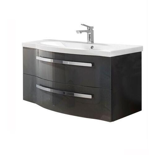 Lomadox - Badezimmer Waschtisch FES-4005-66 in Hochglanz Lack