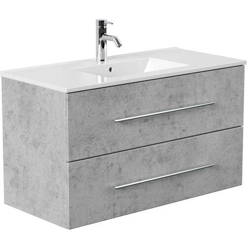 Lomadox - Badezimmer Waschtisch in Beton-Optik ABUJA-02 mit 100cm