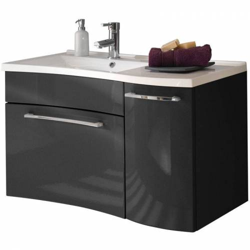 Lomadox - Badezimmer Waschtisch mit 90cm Waschbecken VANCUVER-02