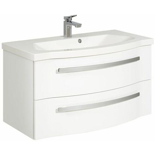 Lomadox - Badezimmer Waschtisch mit Mineralmarmor Waschbecken