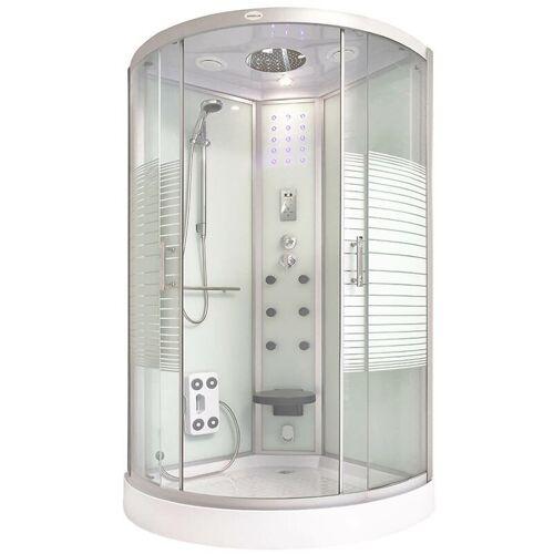 Home Deluxe - Dusche White Pearl (Cr) 100x100 cm I Duschkabine,