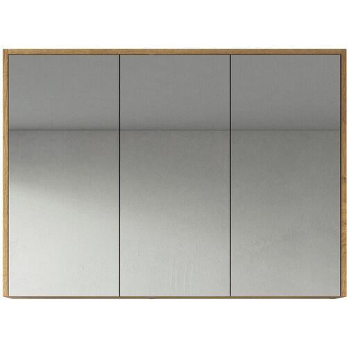BADPLAATS Spiegelschrank Cuba 100cm Eiche - Schrank Spiegelschrank Spiegel