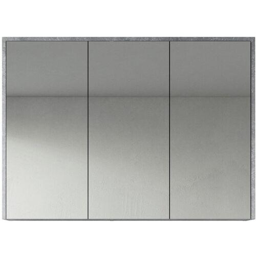 BADPLAATS Spiegelschrank Cuba 100cm F.ash - Schrank Spiegelschrank Spiegel