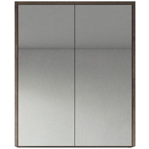 BADPLAATS Spiegelschrank Cuba 60cm Braun Eiche - Schrank Spiegelschrank Spiegel