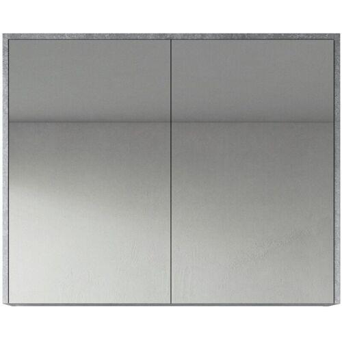 BADPLAATS Spiegelschrank Cuba 90cm F.ash - Schrank Spiegelschrank Spiegel