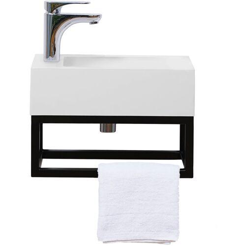STILFORM Gäste WC Waschbecken Soho Industrial Design aus Mineralguss mit
