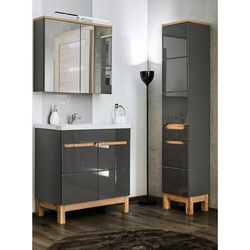 Lomadox - Badezimmer Set mit 80cm Keramik-Waschtisch &