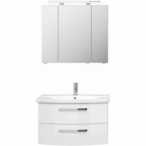 Lomadox - Badezimmer Waschplatz FES-4010-66 mit Waschtisch und