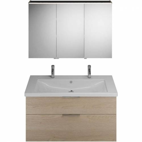 Burgbad Eqio Set, SFAO123R, bestehend aus Spiegelschrank Version