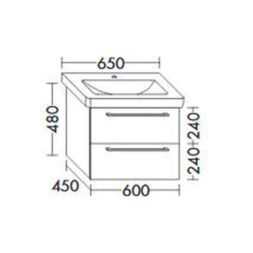 BURGBAD Waschtischunterschrank für Durastyl Waschtisch 65cm 650, WVYA054