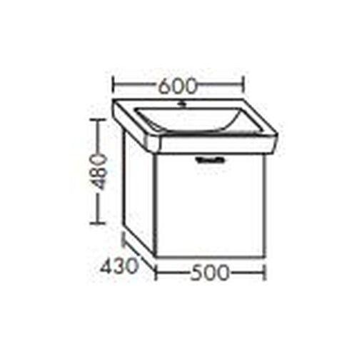 Burgbad Waschtischunterschrank für Keramag it! 500 x 121960, WUPA050