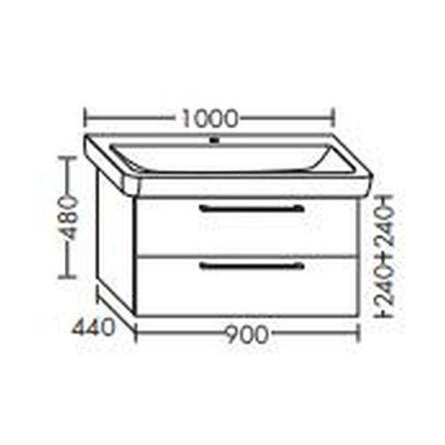 BURGBAD Waschtischunterschrank für Keramag it! 90cm 121900, WUPA090 - Burgbad