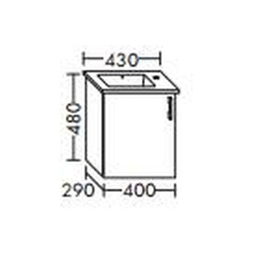 BURGBAD Waschtischunterschrank für Starck Waschtisch 40cm 072343, WVMK040L