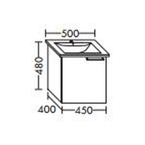 BURGBAD Waschtischunterschrank für Villeroy & Boch Levita 45 x 124 50 xx,