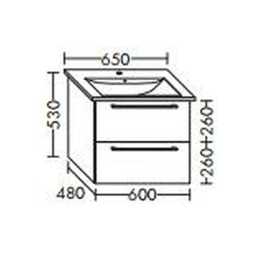 BURGBAD Waschtischunterschrank für Villeroy & Boch Levita 60cm 4124 65 xx ,