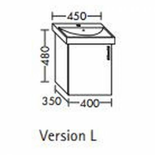 BURGBAD Waschtischunterschrank für Villeroy & Boch Subway 40 cm 735845,