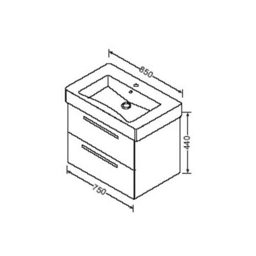 BURGBAD Waschtischunterschrank zu Duravit Vero 80cm 032985, WUBW075 - Burgbad