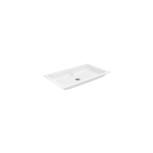 Keuco X-Line Varicor-Waschtisch mit Hahnloch, ohne Überlauf, 805 x 493