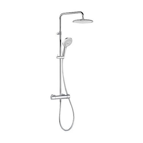 KLUDI FRESHLINE Thermostat Dual Shower System chrom, 6709205-00 - Kludi
