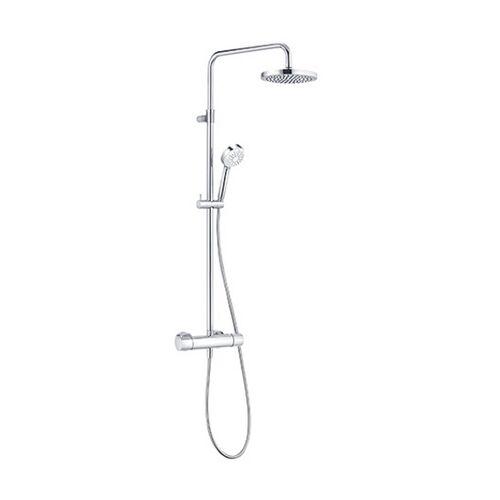KLUDI LOGO Thermostat Dual Shower System chrom, 6809505-00 - Kludi