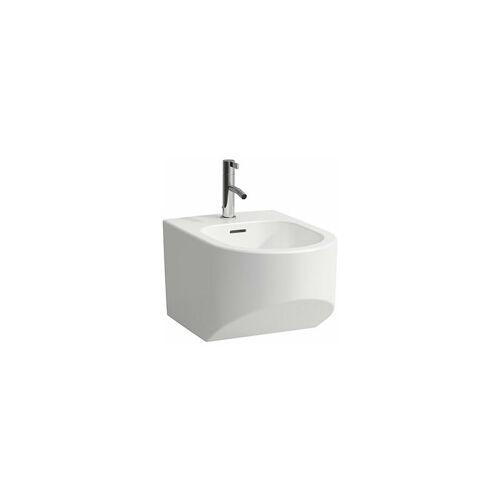 LAUFEN Sonar Wandbidet, 1 Hahnloch, mit Überlauf, Farbe: Weiß mit LCC