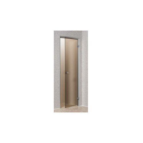 DESINEO Tür für Hammam 80 x 190 cm mit vorgespanntem Glas, Bronze- und Matt