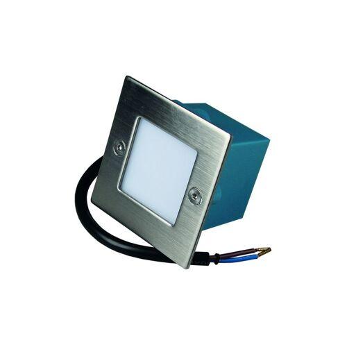 CHILITEC LED Einbauleuchte Cuadrado Q9 Edelstahl IP54 weiß