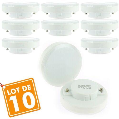 ECLAIRAGE DESIGN Los mit 10 LED-Lampen GX53 7W Äq. 50W   Farbtemperatur: 4000K