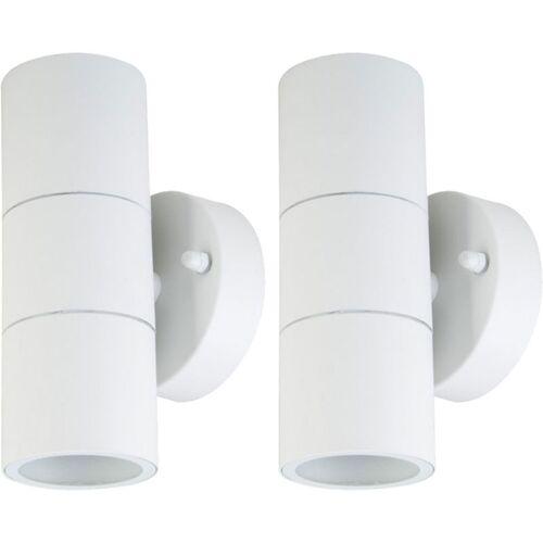 Etc-shop - 2er Set LED Wand Strahler Fassaden UP DOWN Beleuchtung