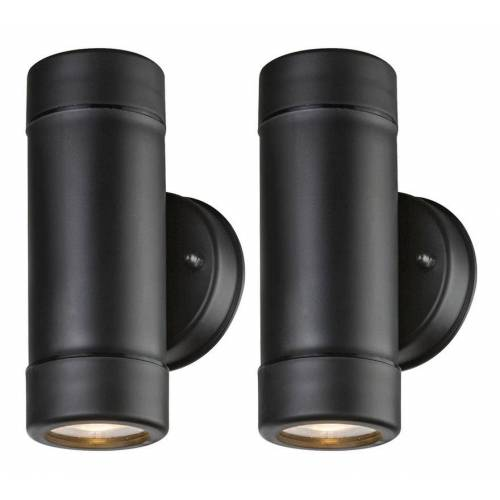 Etc-shop - 2x RGB LED Außen Wand Lampen DIMMBAR Up Down Strahler