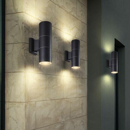 Etc-shop - 3er Set Außen Beleuchtung UP DOWN Strahler Wand Leuchten