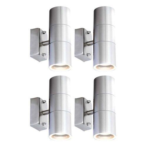 Etc-shop - 4er Set LED UP DOWN Wand Strahler Außen Beleuchtung Fassaden
