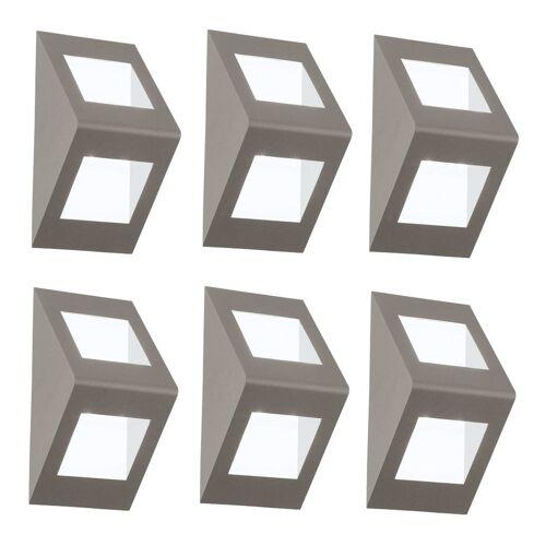 ETC-SHOP 6er Set LED Außen Leuchten Haus Wand Beleuchtungen Hof Up Down Strahler