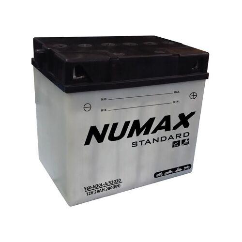 NUMAX Fahrrad-Batteriesatz mit Standard-Y60-N30L-A / 53030 12V 28Ah 280A