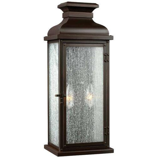 02-elstead - Giebellaterne, 46 cm, Kupfer gealtert, abgenutztes Glas,