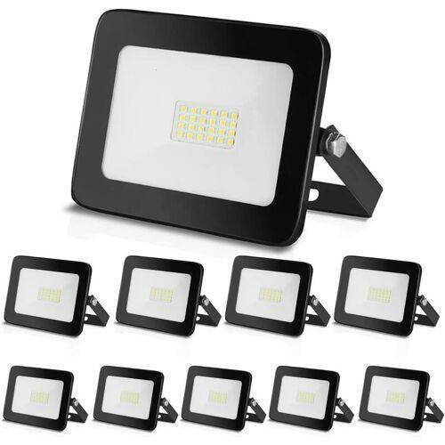 Hengda LED Strahler 10x 20W LED Fluter Außenstrahler Flutlichtstrahler
