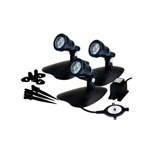 GEV LED Strahler Gartenlampe als Spot 3er Set