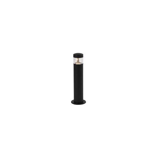 QAZQA Moderne Außenleuchte schwarz 40 cm IP44 inkl. LED - Roxy
