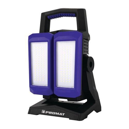 PROMAT LED-Strahler 50 W 800-4500 lm Li-Ion 4400 mAh 14,8 V IP54 - Promat