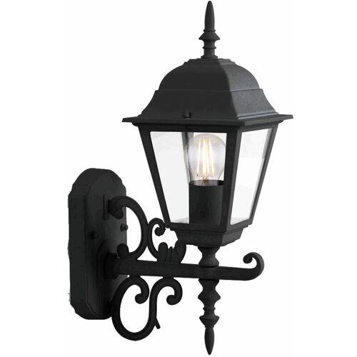 Etc-shop - Fassaden Lampe Wand Laterne schwarz Landhaus Stil Alu Glas