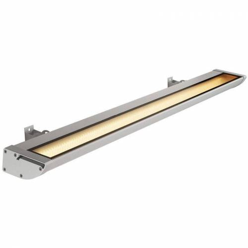 SLV - LED Outdoor Strahler Vano Wing, silbergrau, 3000 K, 1195 x 65 x