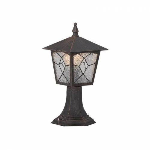 GLOBO Atlanta Außenlampe Sockel-Lampe Außen-Leuchte Alu Laterne