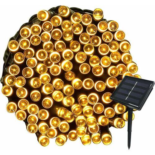 ABCRITAL 22M Solar Lichterketten 200 LED 8 Lichterketten Lichterketten Ideal für