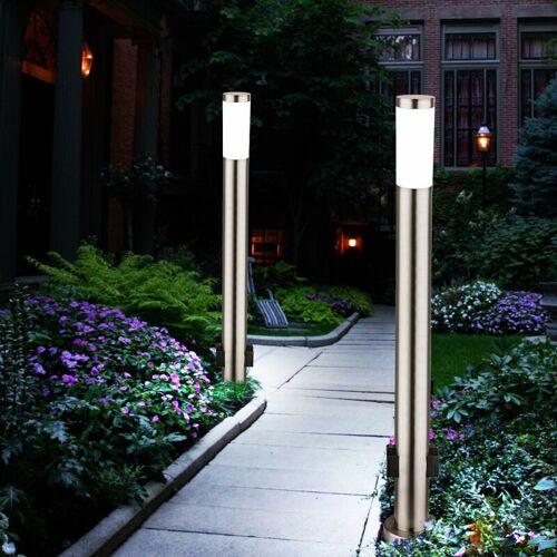 ETC-SHOP 2er Set LED 7 Watt Energie Strom Outdoor Verteiler 2-Fach Steckdosen